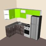 Проект с чертежами для сборки угловой кухни размером 1420х2240.
