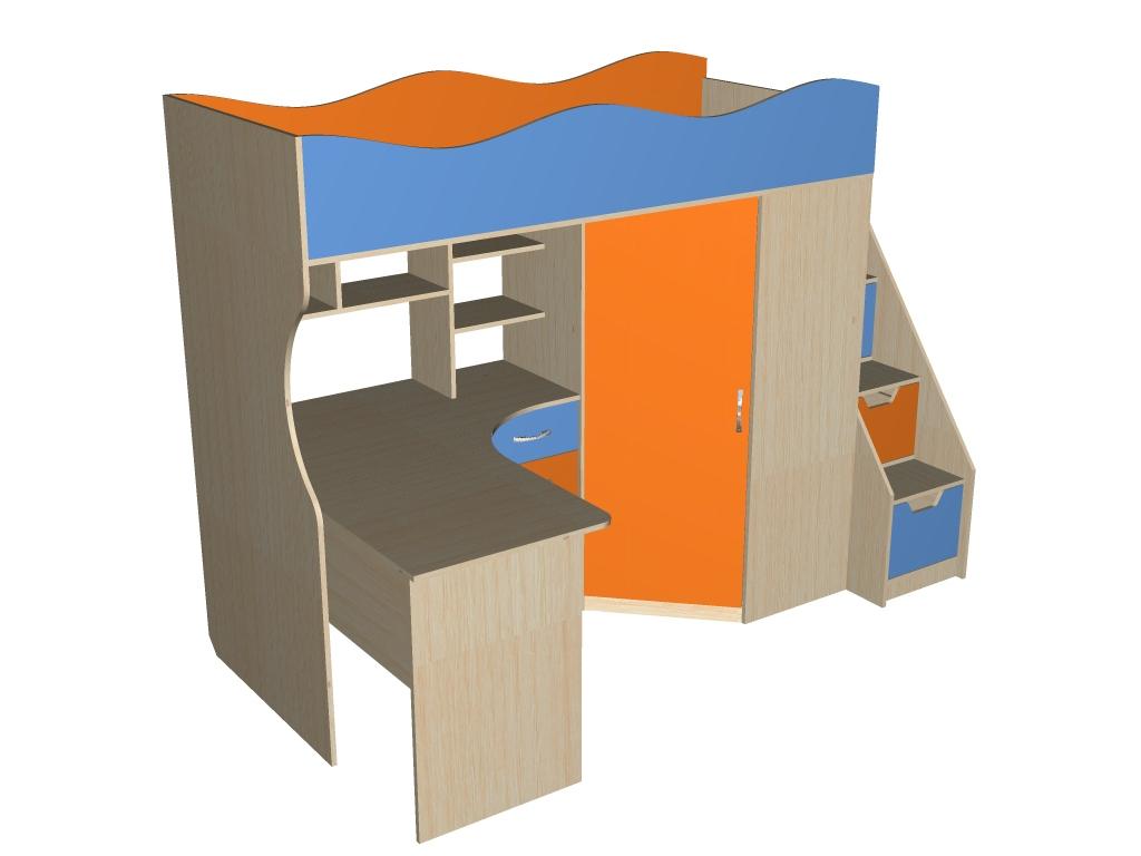 Детская кровать-чердак 1