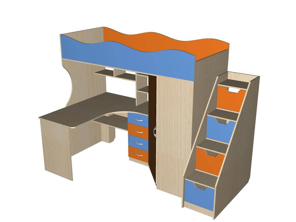 Детская кровать-чердак 2